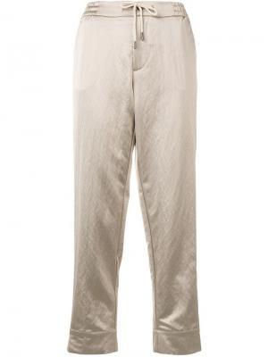 Прямые укороченные брюки Berwich. Цвет: нейтральные цвета