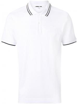 Рубашка-поло с заплаткой в форме ласточки McQ Swallow. Цвет: белый