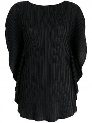 Плиссированная блузка оверсайз Pleats Please Issey Miyake. Цвет: черный