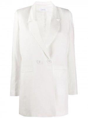 Двубортный пиджак ANINE BING. Цвет: белый