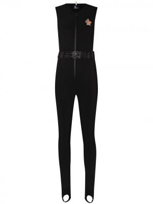 Лыжный костюм с нашивкой-логотипом Moncler Grenoble. Цвет: черный
