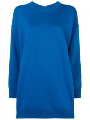 Zipped elongated jumper Paco Rabanne. Цвет: синий