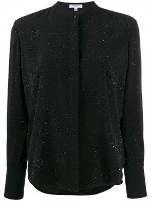 Рубашка с кристаллами Equipment. Цвет: черный