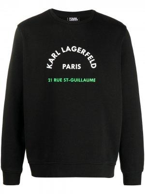 Толстовка с круглым вырезом и логотипом Karl Lagerfeld. Цвет: черный