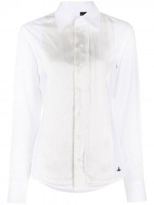 Рубашка с контрастной манишкой Vivienne Westwood. Цвет: белый