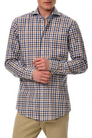 Рубашка Colletto Bianco. Цвет: коричневый