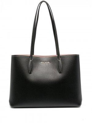 Большая сумка-тоут All Day Kate Spade. Цвет: черный