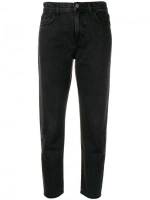 Cropped tapered jeans Current/Elliott. Цвет: серый