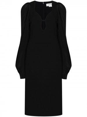 Платье миди с каплевидным вырезом Victoria Beckham. Цвет: черный