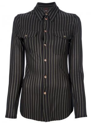 Приталенная рубашка в полоску Jean Paul Gaultier Pre-Owned. Цвет: черный