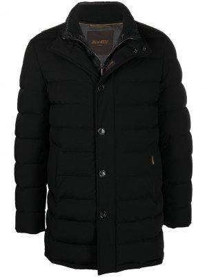 Куртка-пуховик на молнии Moorer. Цвет: черный