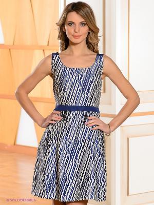 Платье Bandolera. Цвет: белый, синий