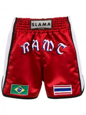 Боксерские шорты Amir Slama. Цвет: красный