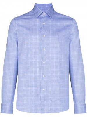Клетчатая рубашка на пуговицах Canali. Цвет: синий