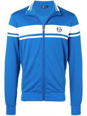 Куртка-бомбер с логотипом Sergio Tacchini. Цвет: синий