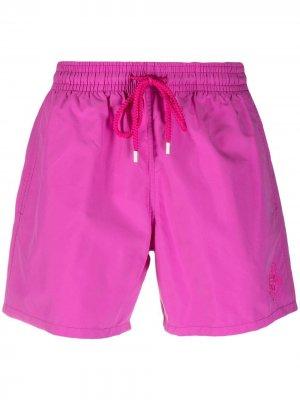 Плавки-шорты с нашивкой-логотипом Vilebrequin. Цвет: фиолетовый