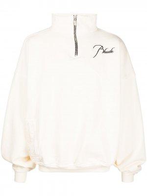 Пуловер с логотипом Rhude. Цвет: белый