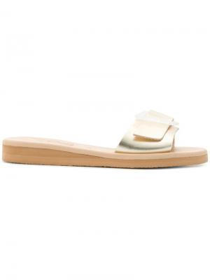 Сандалии с пряжкой Ancient Greek Sandals. Цвет: металлик
