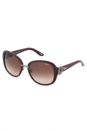 Солнцезащитные очки Chopard. Цвет: красный
