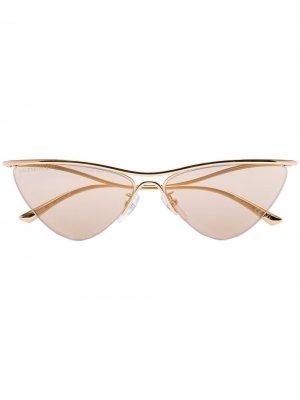 Солнцезащитные очки Balenciaga Eyewear. Цвет: золотистый