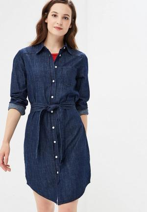 Платье джинсовое Jacqueline de Yong. Цвет: синий