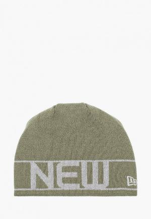 Шапка New Era. Цвет: зеленый