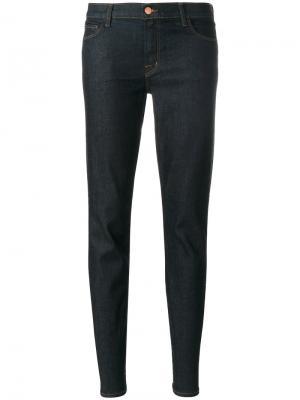 Зауженные джинсы с классической талией Maude J Brand. Цвет: синий