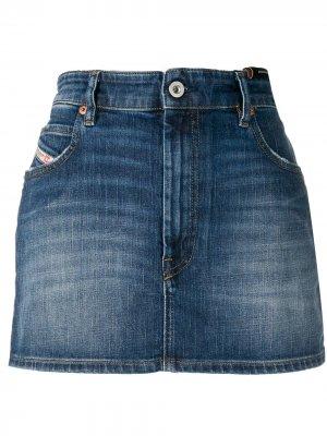 Джинсовая юбка мини Diesel. Цвет: синий
