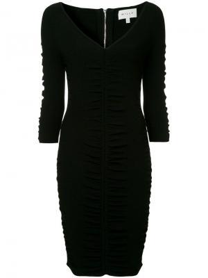 Платье со сборкой Milly. Цвет: черный