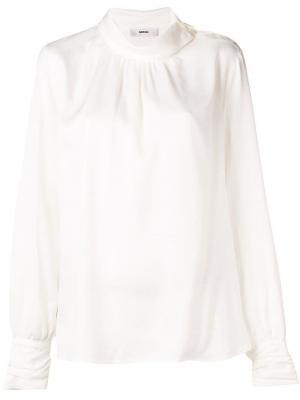 Блузка с декором Mauro Grifoni. Цвет: белый