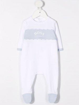 Пижама с логотипом BOSS Kidswear. Цвет: белый