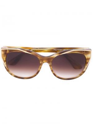 Солнцезащитные очки в круглой оправе Thierry Lasry. Цвет: желтый