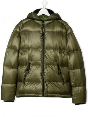 TEEN zipped padded jacket Cp Company Kids. Цвет: зеленый