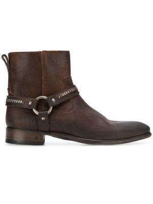 Ботинки на молнии John Varvatos. Цвет: коричневый