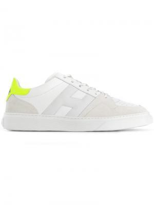 Кроссовки с контрастным дизайном Hogan. Цвет: белый
