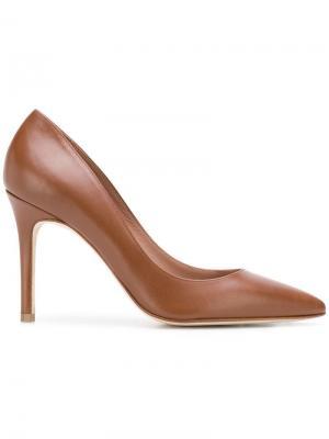 Туфли-лодочки с заостренным носком Antonio Barbato. Цвет: коричневый
