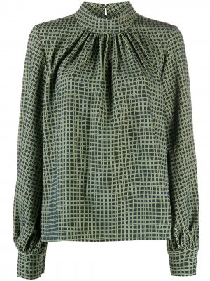 Блузка в клетку Stine Goya. Цвет: зеленый