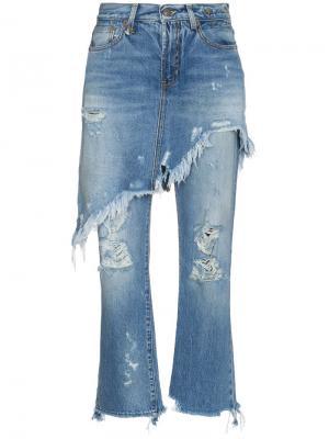 Двухслойные джинсы с необработанными краями R13. Цвет: 40000 jasper w rips