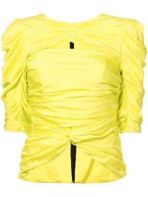 Блузка со сборками Vionnet. Цвет: желтый