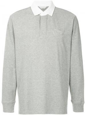Рубашка-поло с длинными рукавами Gieves & Hawkes. Цвет: серый
