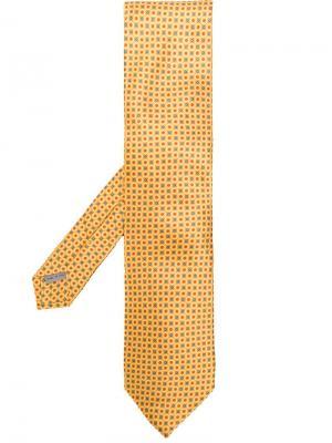 Patterned tie Canali. Цвет: желтый