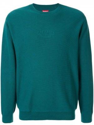 Джемпер из пике Supreme. Цвет: зеленый