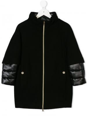 Утепленное пальто Herno Kids. Цвет: черный