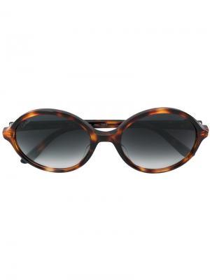 Солнцезащитные очки C Décor Cartier. Цвет: коричневый
