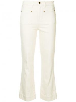 Укороченные расклешенные джинсы Raquel Khaite. Цвет: нейтральные цвета