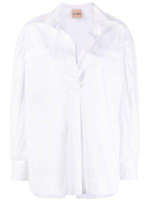 Рубашка на пуговицах Nude. Цвет: белый