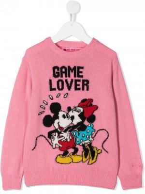 Джемпер Princess с узором Game Lover Mc2 Saint Barth Kids. Цвет: розовый