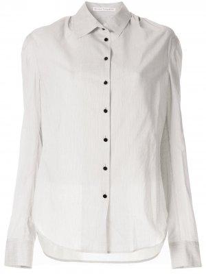 Рубашка в полоску Olivier Theyskens. Цвет: белый