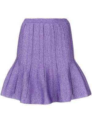 Ruffled mini skirt Alberta Ferretti. Цвет: фиолетовый