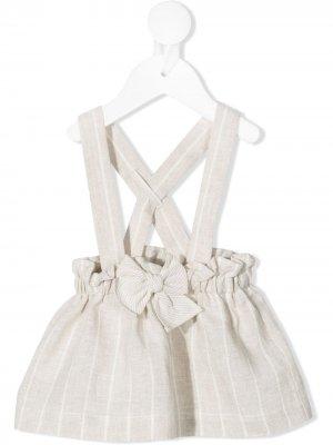 Платье-сарафан с бантом Il Gufo. Цвет: нейтральные цвета